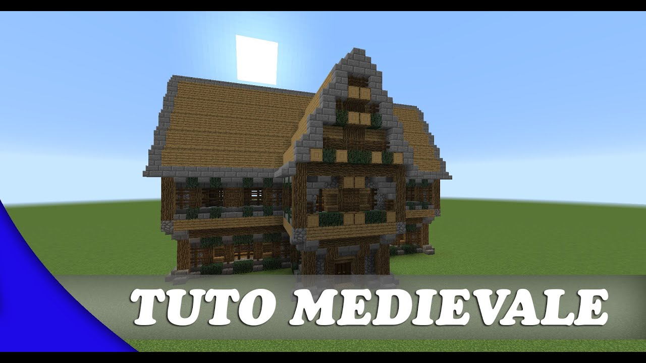 Minecraft Tuto Maison Médiévale Simple Fr