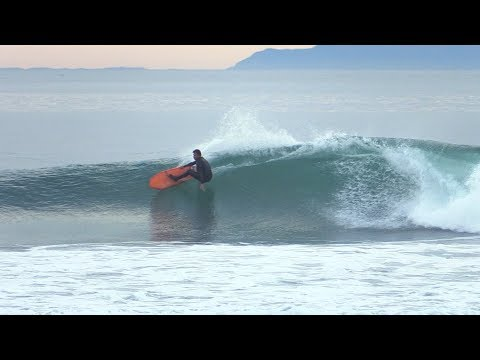 Dane Reynolds Surfing Asymmetrical Surfboard at Rincon