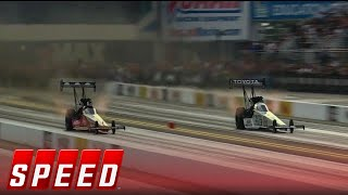 Doug Kalitta vs. Antron Brown - Charlotte Pro Stock Motorcycle Final - 2016 NHRA Drag Racing Series