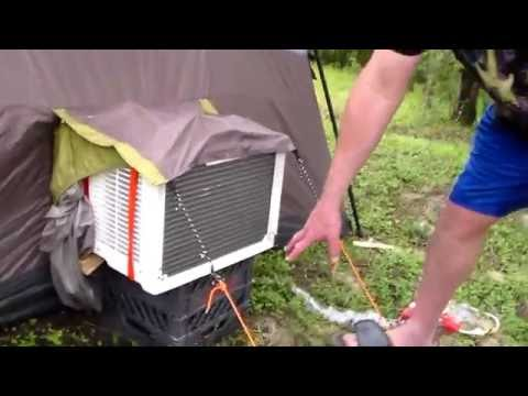 Ozark Trail 20 x 10 Cabin Tent, Camping with Air Conditioning - How to