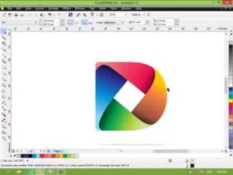 tutorial cara membuat simple logo 3d tutorial corel draw youtube. Black Bedroom Furniture Sets. Home Design Ideas