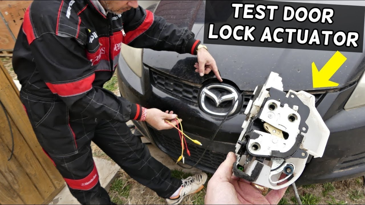 How To Test Door Lock Actuator On Mazda Door Does Not Lock Unlock Test Youtube