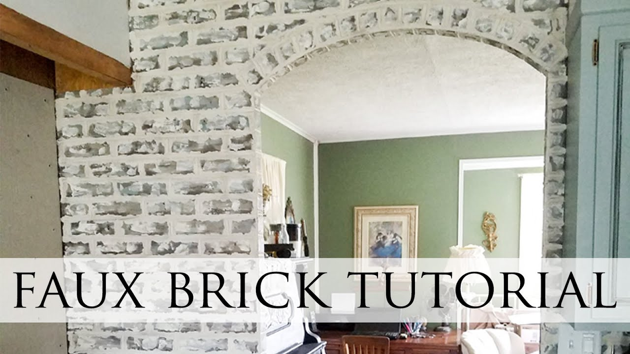 Diy Faux Brick Wall Step By Step Tutorial Youtube