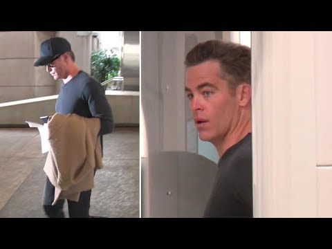 Chris Pine Gets A Lengthy PatDown Going Through LAX TSA