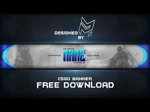FREE 'CS:GO' BANNER TEMPLATE | (FREE DOWNLOAD) | Designed By SKNMSTRMND