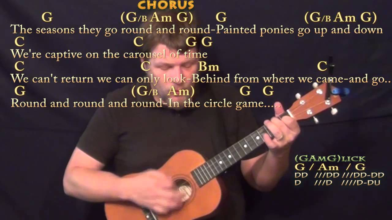 Circle Game Joni Mitchell Bariuke Cover Lesson In G With Chords