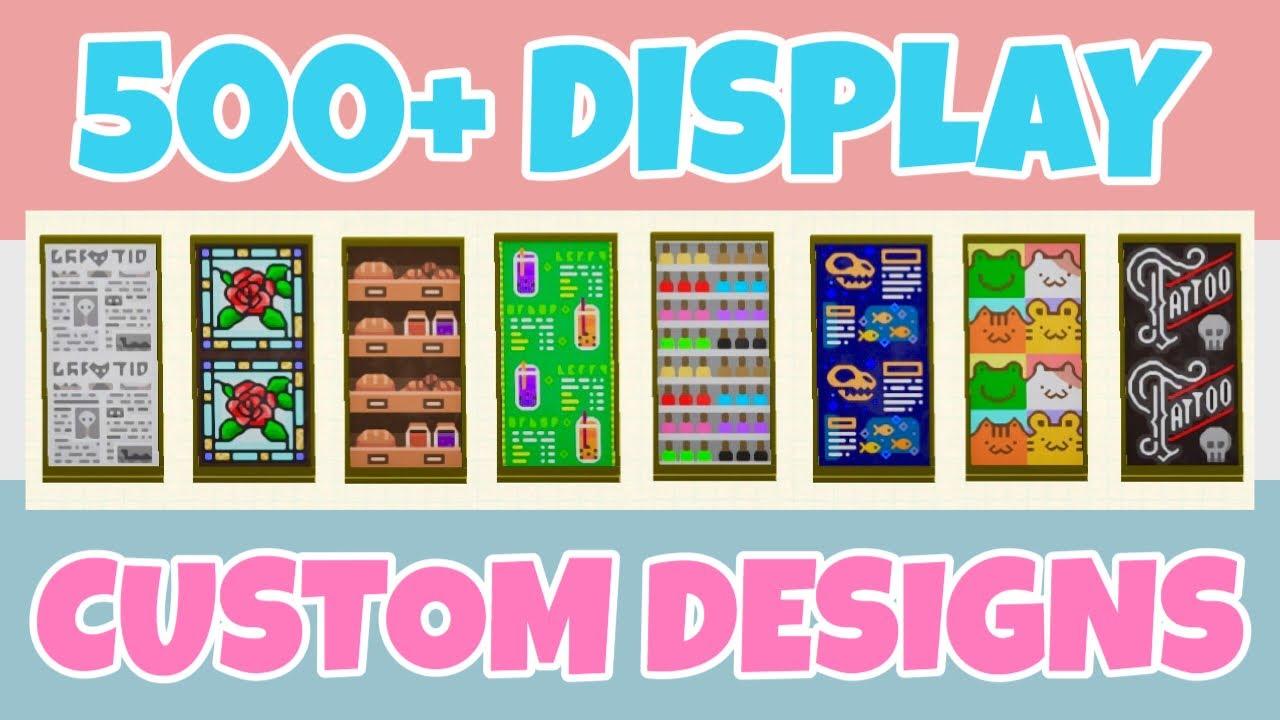 Top 500 Panel Display Custom Designs In Animal Crossing New Horizons Shop Sign Menu Design Code Youtube