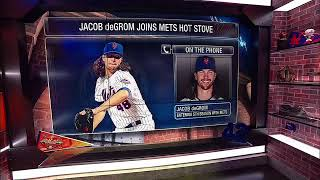 Mets pitcher Jacob deGrom talks Mickey Callaway and short hair