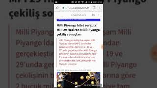 Milli Piyango Çekiliş Sonuçları 29 Haziran 2018