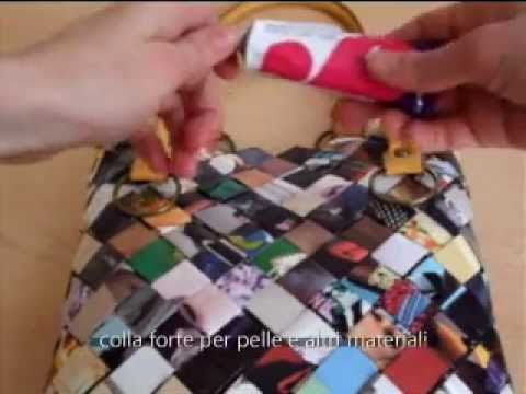 diy borsa con riviste riciclo creativo youtube