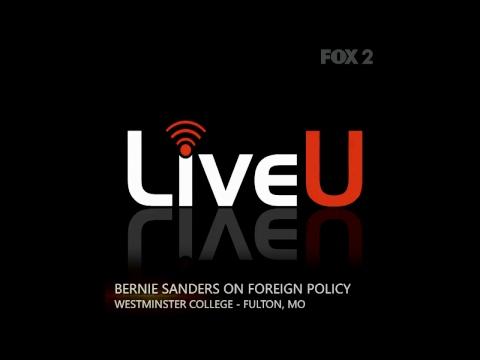 US Senator Bernie Sanders speaking at Westminster College in Fulton, Missouri
