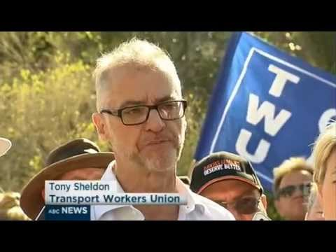 ABC1: Qantas Workers Rallied against Job Cuts