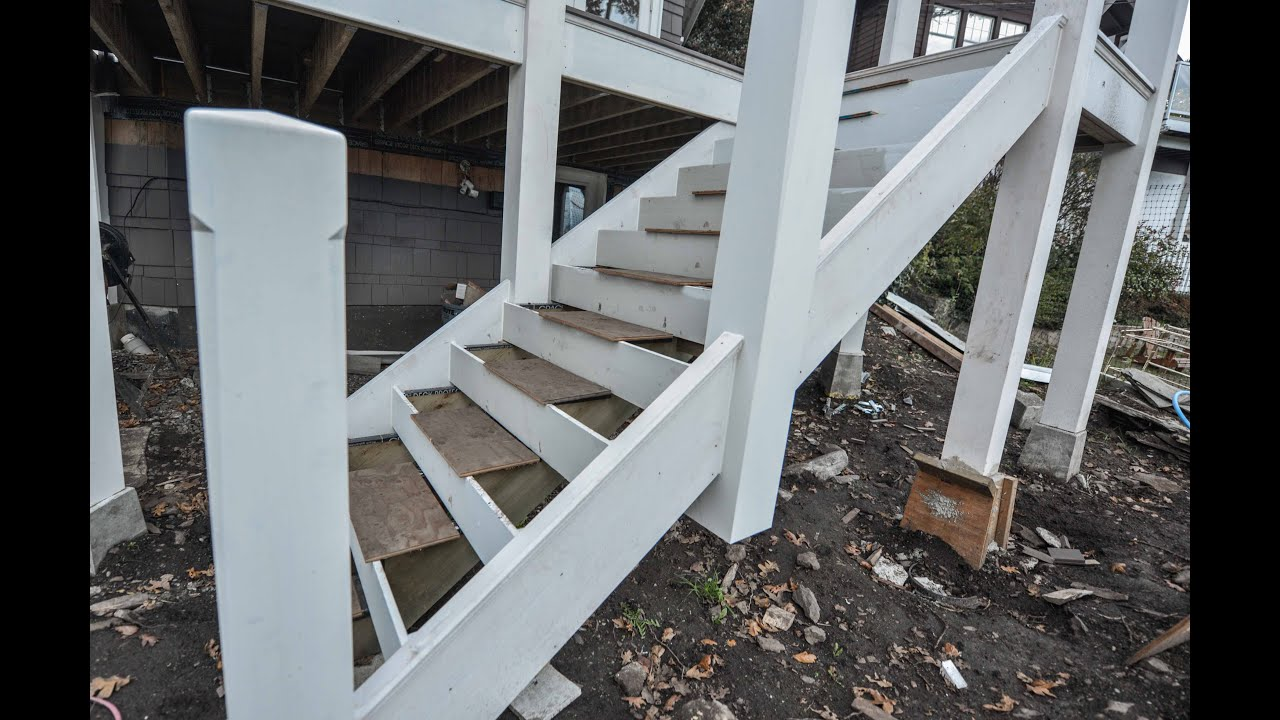 How to keep exterior stairs from rotting youtube for Exterior stairs