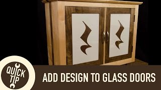 The Easy Way To Add Design To Glass Doors On Cabinets.