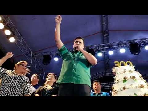"""Prefeito Emanuel Pinheiro discursa antes de cantar o """"Parabéns"""""""