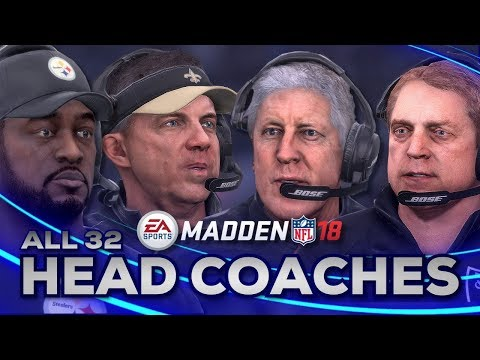 All Head Coaches in Madden NFL 18