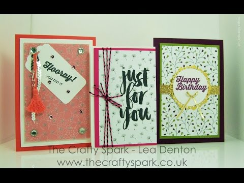 3 Super Simple Not-So-Speedy Cards #9 - Good Bye Sale-A-Bration 2016 Stampin' Up! UK