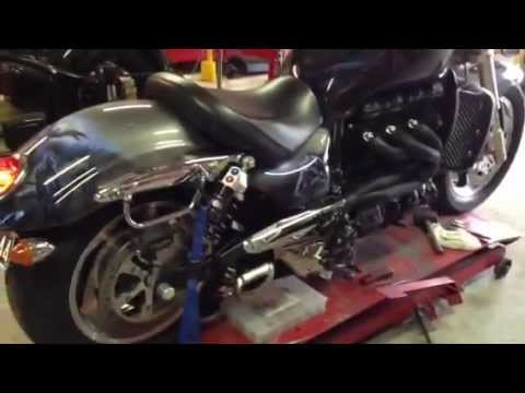 Customized Triumph Rocket  with deep sound exhaust