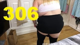 ADELESEXYUK TRYING ON  SOME BLACK  TIGHTS