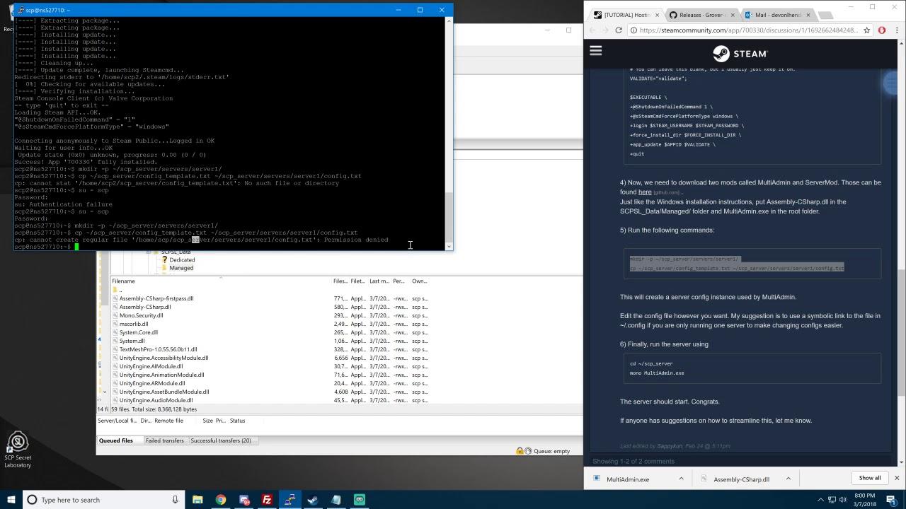 SCP Secret Laboratory Linux Server Tutorial