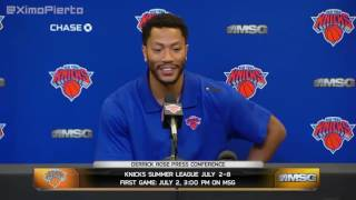 Derrick Rose   Full Introductory Press Conference   New York Knicks   June 24, 2016   NBA Offseason