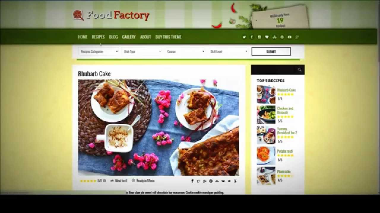 how to edit wordpress templates - how to change colors and background in the food factory