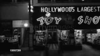 Hollywood Blvd store fronts in 1961 Getty images