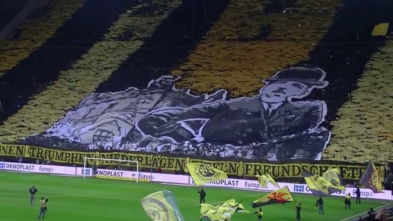 Choreo Südtribüne Borussia Dortmund - Hertha BSC Berlin 17. Spieltag 2013 BVB