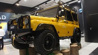 UAZ HUNTER 4x4 Offroad Tuning  -  Exterior and Interior Walkaround - Moscow Offroad Show 2015(UAZ HUNTER 4x4 Offroad Tuning - Exterior and Interior Walkaround Легендарный внедорожник Классический военный стиль в современной..., 2016-01-19T18:30:04.000Z)