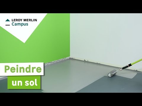Comment Peindre Un Sol Leroy Merlin Youtube