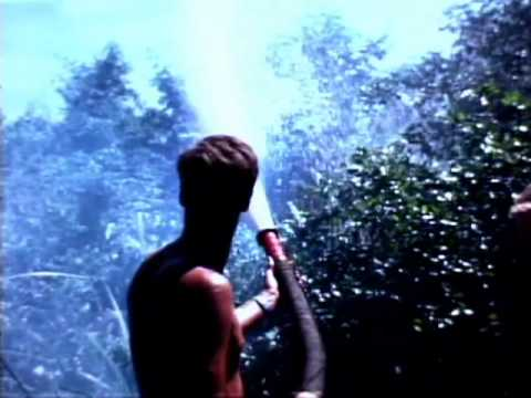 Film of US Soldiers spraying Agent Orange defoliant onto a riverbank without protective equipment