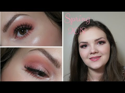 Peachy-Pink Spring 2018 Makeup Tutorial - Summer Bailey