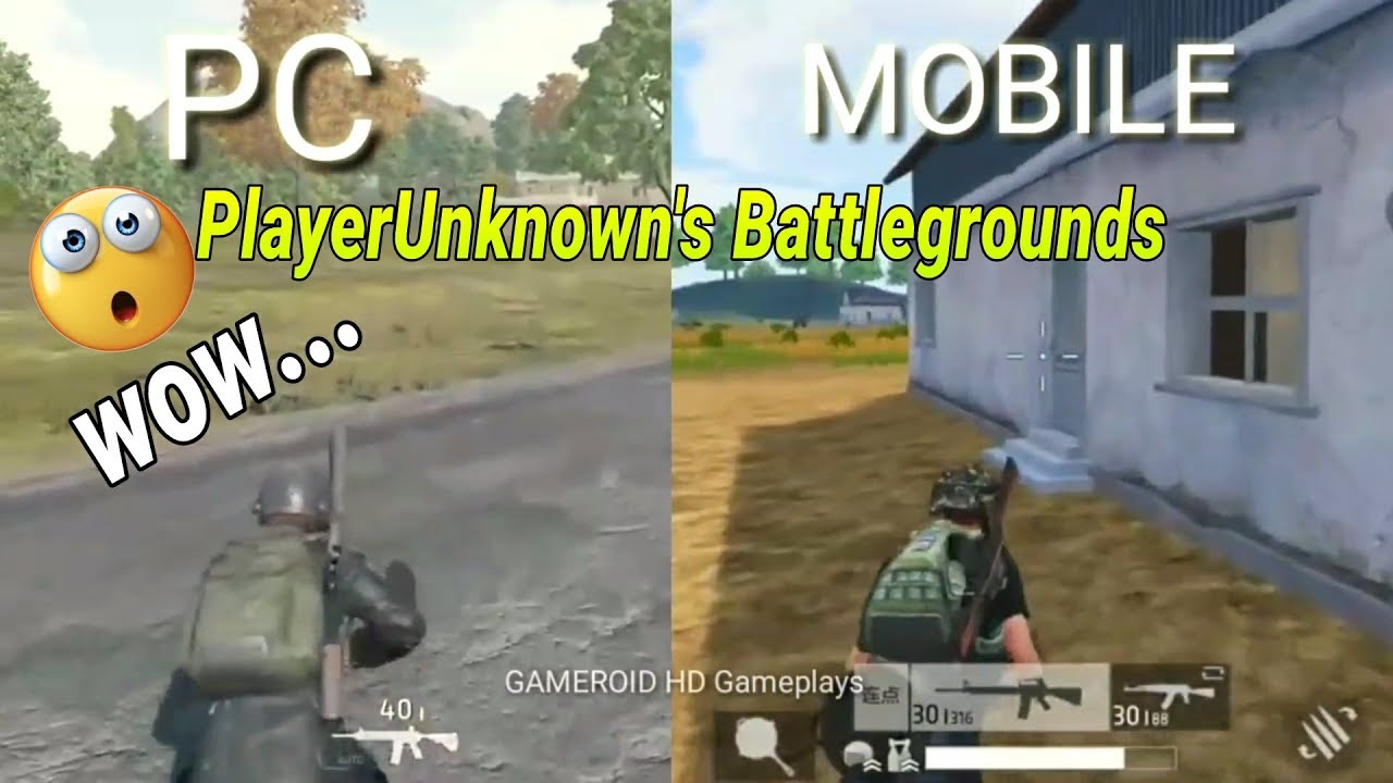 PlayerUnknown's Battlegrounds (PC Vs MOBILE)