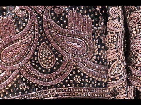 AR-375 Black Currant Designer Wear Saree || Stone Work || Zardozi Work || Arang Saree