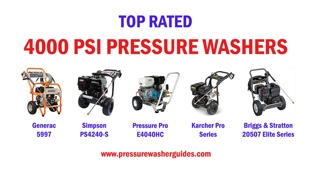 Top Rated 4000 PSI Pressure Washers