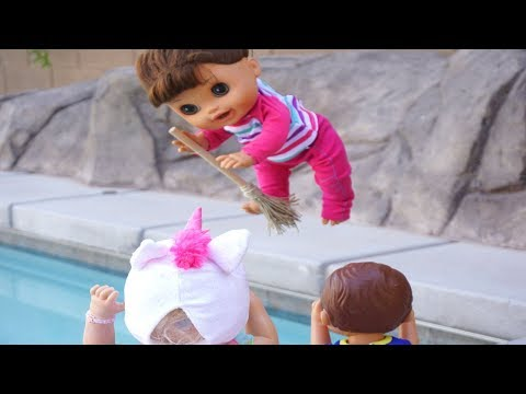 Baby Alive Find Magic Witch Brooms And Fly Babby Alive Videos