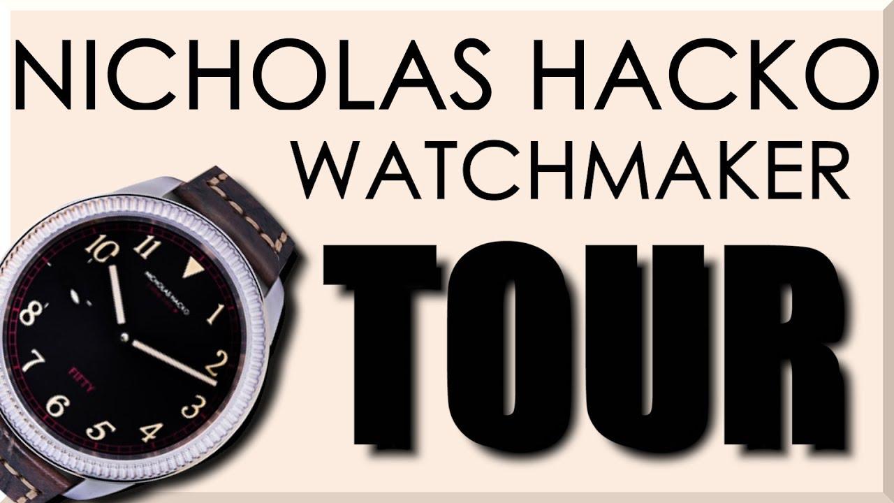 AMAZING Machine Shop Tour: Nicholas Hacko Watchmaker! - NYC CNC
