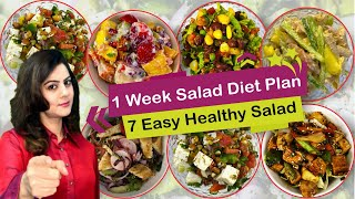7 Healthy & Easy Salad Recipes for Weight Loss   Weight Loss Salad Recipes in Hindi   Easy 7 Salad