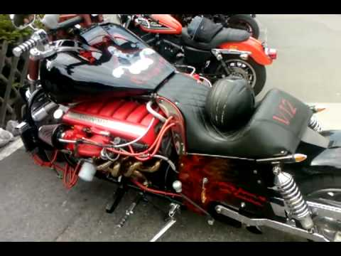 12 Zylinder Aston Martin MOTORBIKE...!!!! SELF-MADE ...