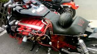 12 Zylinder Aston Martin MOTORBIKE...!!!! SELF-MADE...!!!