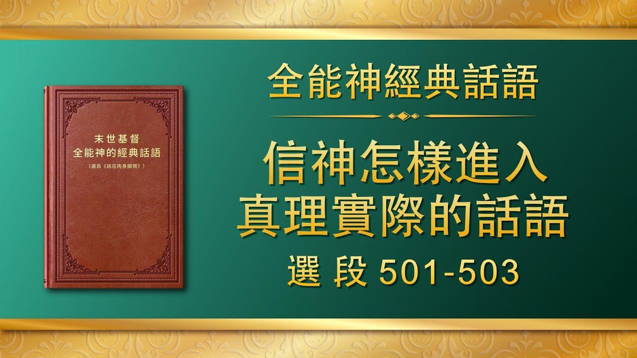 全能神经典话语《信神怎样进入真理实际的话语》选段501-503
