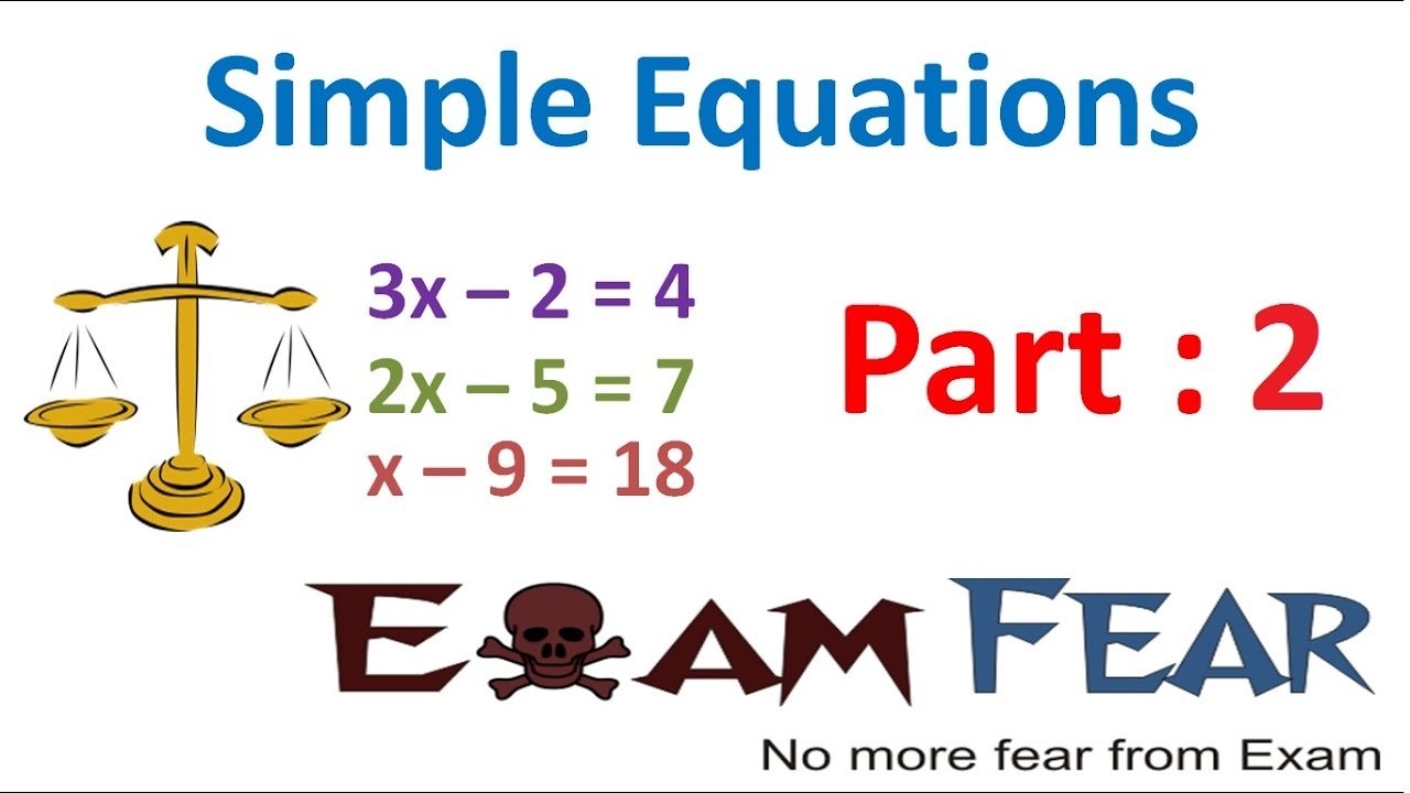 Maths Simple Equation part 2 (Constant, Variables, Expression) CBSE ...