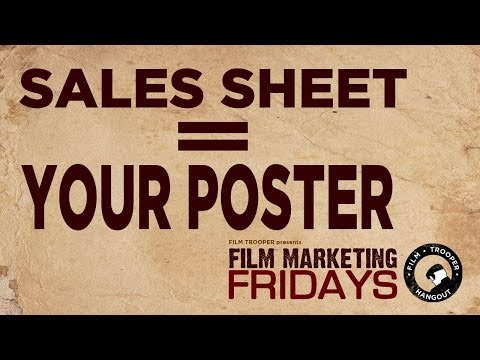 Film Marketing Fridays - Sales Sheet = Your Poster