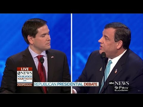 Rubio vs. Christie - Full Debate Highlight 2/6/16