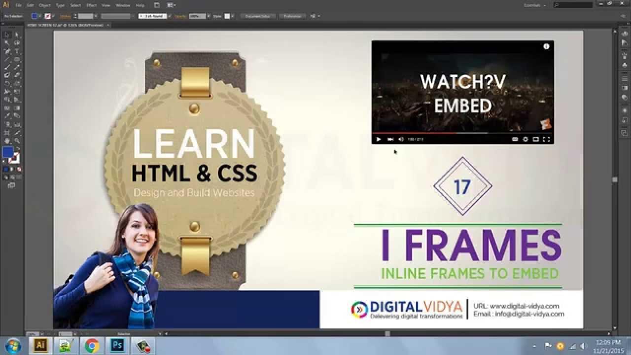 Telugu Tutorial] Adding youtube Videos in Web Sites - USING IFRAME ...