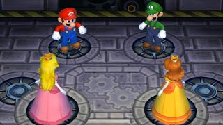 Mario Party 9 - Magma Mine - Mario VS Luigi VS Peach VS Daisy