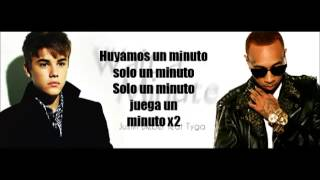 Tyga ft Justin Bieber  - Wait For A Minute (Traducida al Español)