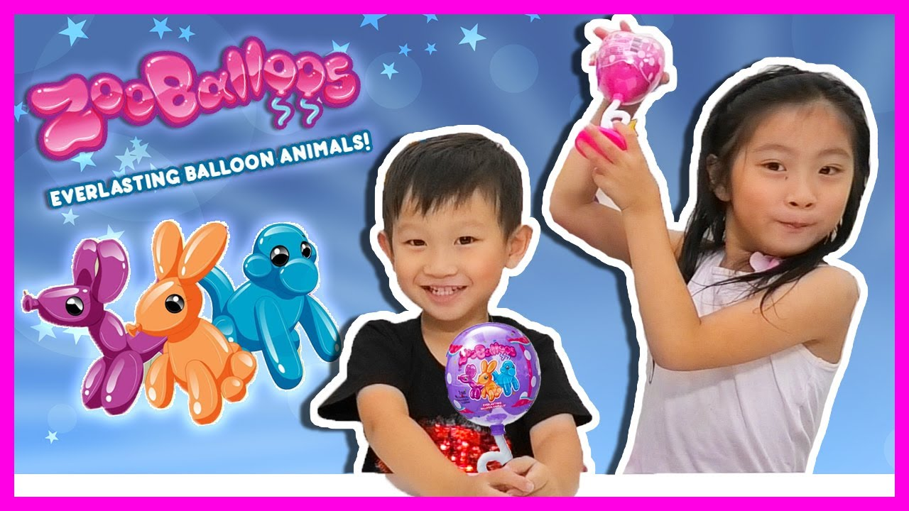 Different Colors Set of 3 NEW ZooBalloos Everlasting Balloon Animals Squishies
