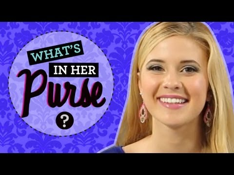 Caroline Sunshine : The Shake it Up Star Dishes What's In Her Purse!
