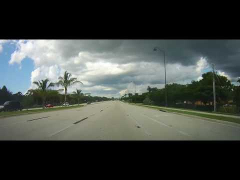 Driving on US 41 to Coconut Point Mall - Estero, Florida